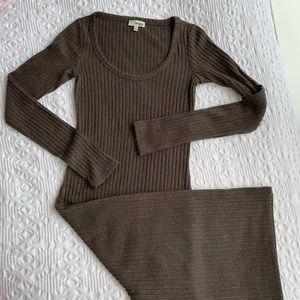 Wilfred Free -Aritzia rib knit midi dress XS